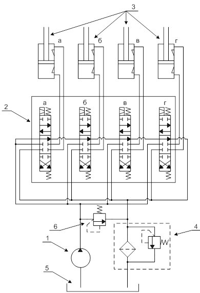 гидроцилиндр на схеме